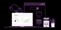 An stylised image icon representing Customs Analytics Illustration